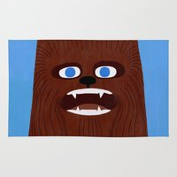 chewbacca Area & Throw Rugs featuring Chewbacca by Jack Teagle