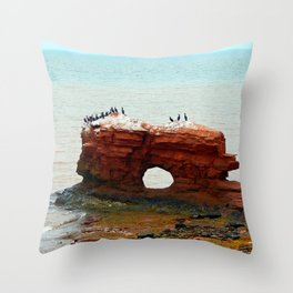 Sandstone Formation in PEI Throw Pillow