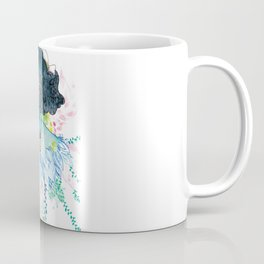Blue nature with baby fox Coffee Mug