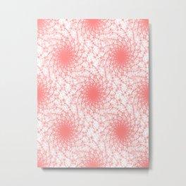 Pink And White Rotation Metal Print