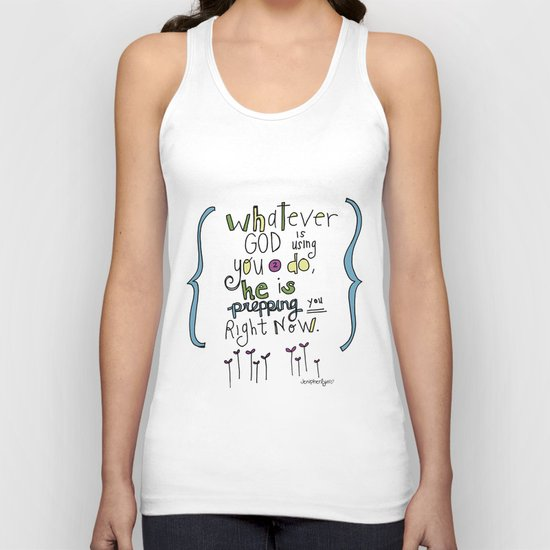 God's Prepping You Unisex Tank Top