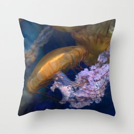 Pacific Sea Nettles Jellies Throw Pillow