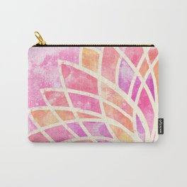 Stained Glass Lotus Carry-All Pouch