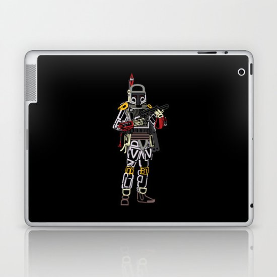 Boba Font Laptop & iPad Skin