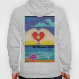 Fun With Coloring I Heart the Beach Hoody