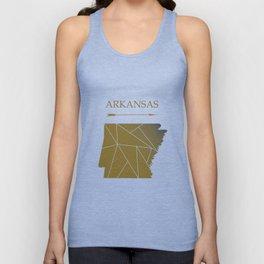 Arkansas In Gold Unisex Tank Top