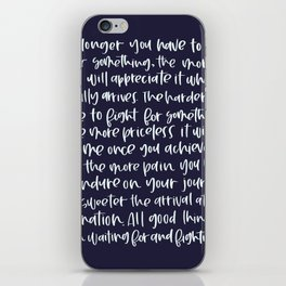All good things iPhone Skin