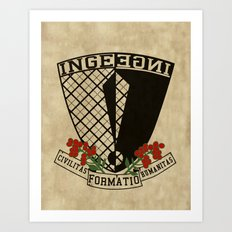 Coat of Arms of Inge Art Print