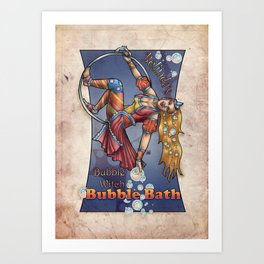 Bubble Witch Bubble Bath Art Print