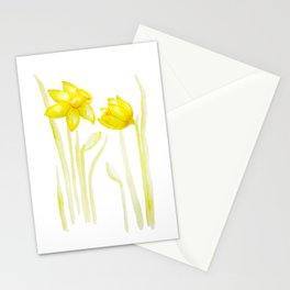 Golden Daffodils Stationery Cards