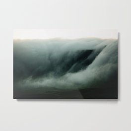 Clouds roll over the Mountains Metal Print