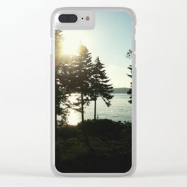 maine pines Clear iPhone Case