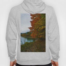 Fall Colours Along the Columbia River in Revelstoke BC Hoody