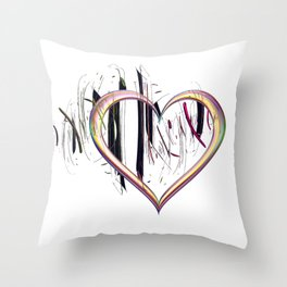 To the Heart Be True Throw Pillow