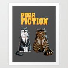 Purr Fiction Art Print