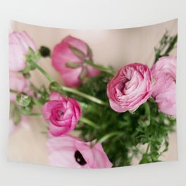 Pink Ranunculus Wall Tapestry