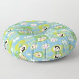 mabo & jimmy garden - blue Floor Pillow