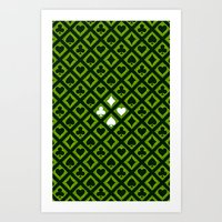 suits Art Prints featuring Card Suits by Diogo Coito