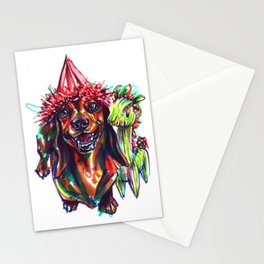 Dachshund Birthday party Stationery Cards