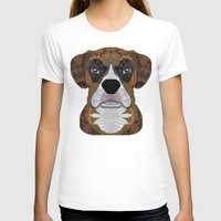 boxer T-shirts featuring Boxer by ArtLovePassion