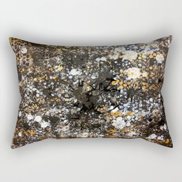 Black Gold Rectangular Pillow