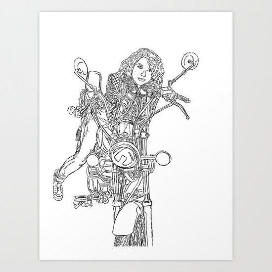 Spirt To Ride Art Print