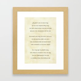 The Fall of Gil-galad Framed Art Print