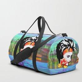 Metropolis Nostalgia Vaporwave Art Duffle Bag