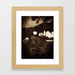 Steampunk Guinea Pig Framed Art Print