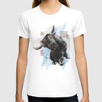 bull T-shirts featuring bull by e12art