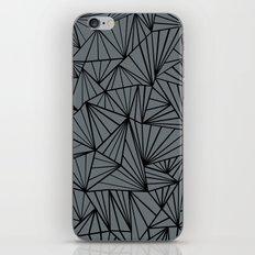 Ab Fan Grey and Black iPhone & iPod Skin