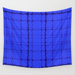 jagged, blue Wall Tapestry