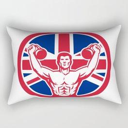 British Physical Fitness Union Jack Flag Icon Rectangular Pillow