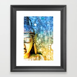 Faded Buddha Framed Art Print