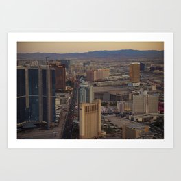 Vegas from the Stratosphere Art Print