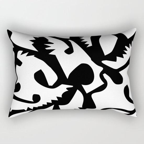 black ghosts Rectangular Pillow