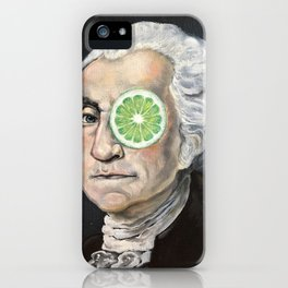 Limeade George Washington iPhone Case