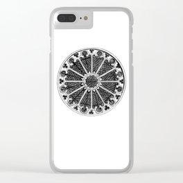Rose window Clear iPhone Case
