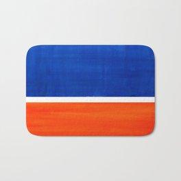 Colorful Bright Minimalist Rothko Orange And Blue Midcentury Modern Art Vintage Pop Art Bath Mat
