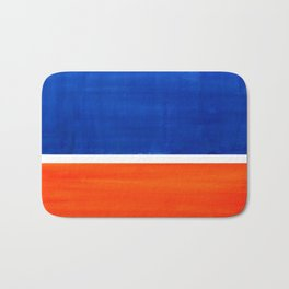 Colorful Bright Minimalist Rothko Orange And Blue Midcentury Modern Art Vintage Pop Art Bath Mat