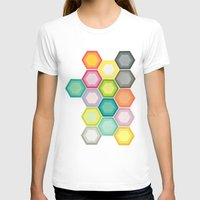 honeycomb T-shirts featuring Honeycomb Layers by Cassia Beck