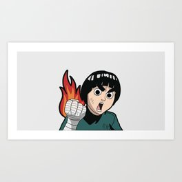 Burn Lee Art Print