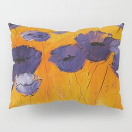 Purple Poppies Pillow Sham