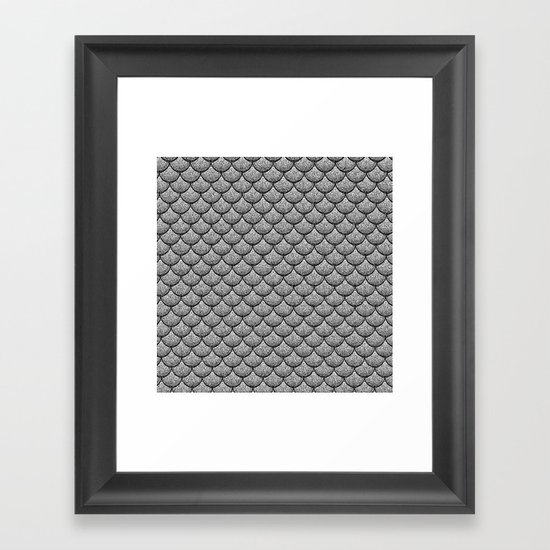 India Ink (Gray) Framed Art Print