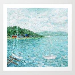Lakeside Summer 1 Art Print