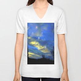 Starry sky Unisex V-Neck