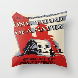 Vintage poster - One Third of a Nation Throw Pillow