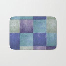 Blue Grey Tone Tiles Bath Mat