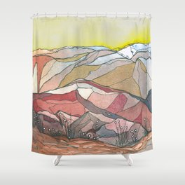 Golden Morning Shower Curtain
