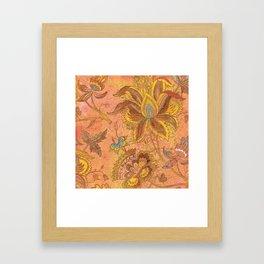 Jacobean Gold Framed Art Print